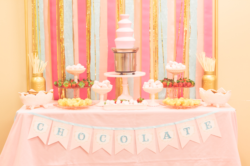 Pt5 Chocolate Fountain Table Dessert Stand Rentals Los Angeles