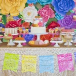 Colorful Mexican Inspired Dessert Table by Minted and Vintage