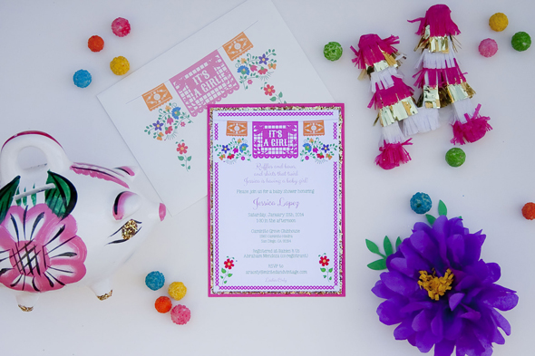 mexican baby shower invitations