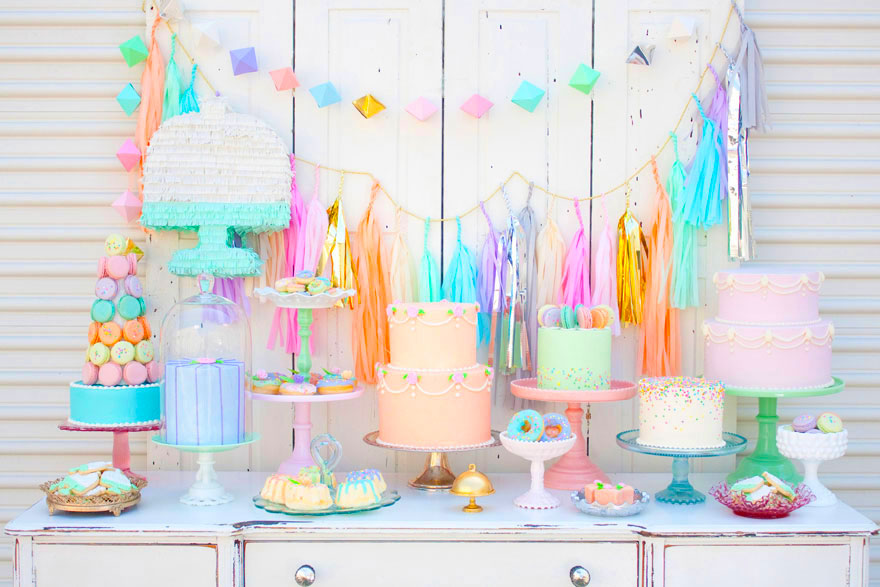Minted And Vintage S 2nd Anniversary Dessert Table
