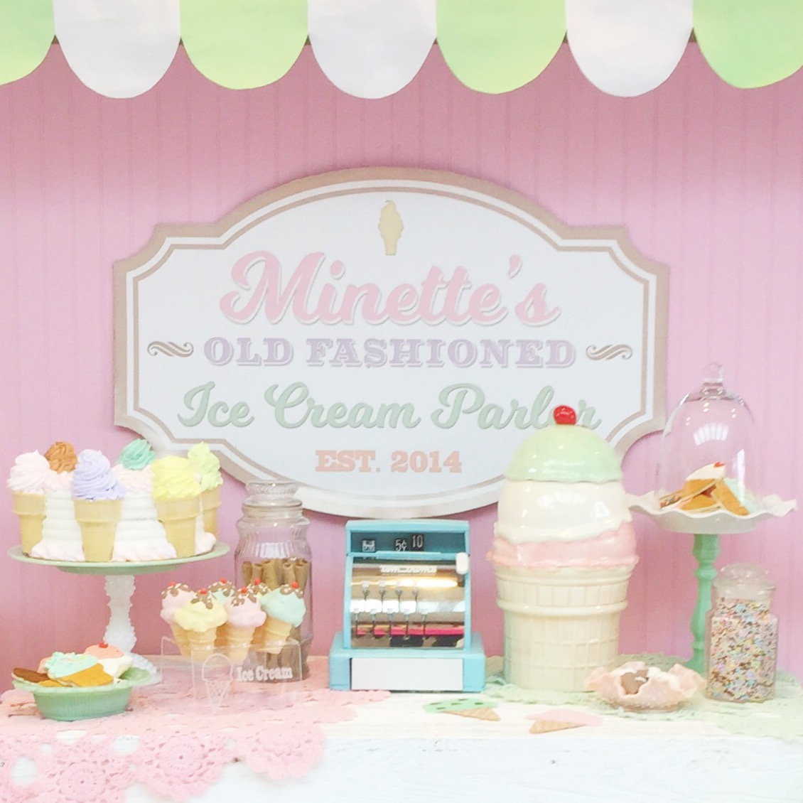 Vintage Ice Cream Parlor Party By Minted And Vintage