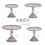 Grey Swirl Cake Stands