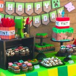 Easy Minecraft Dessert Table by Minted and Vintage