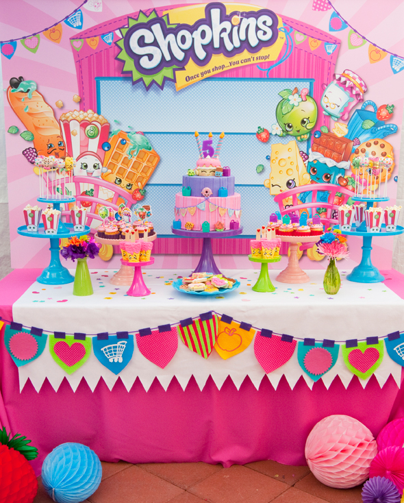 Shopkins Birthday Party By Minted And Vintage Dessert Stand Rentals