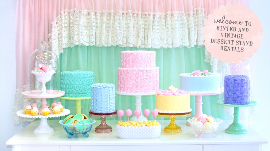 Welcome to Minted and Vintage Dessert Stand Rentals